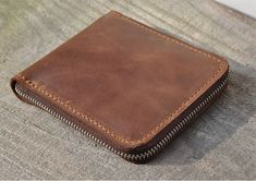 Genuine Leather wallet Men bifold от FocusmanLeather на Etsy