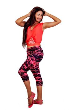 Mid Waist Electric Red