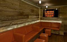 Weathered Grey American Prairie (barn wood) in the Hotel on Rivington, in NYC. | Pioneer Millworks