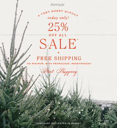 A Very Merry Monday Indeed, with an additional 25% off SALE + FREE SHIPPING, no minimum. Today Only!