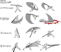 61 Trendy Ideas For Drawing Reference Poses Fighting Animation Animation Reference, Drawing Reference Poses, Anatomy Reference, Drawing Techniques, Drawing Tips, Game Design, Bo Staff, Fighting Poses, Martial Arts Techniques