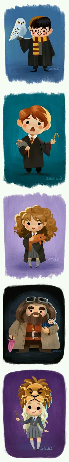 Check it out Potter Heads! Harry Potter and Hedwig, Ron and Scabbers, Hermione and Crookshanks, Hagrid and baby Harry, and Lion Luna Lovegood Harry Potter Universe, Art Harry Potter, Fans D'harry Potter, Mundo Harry Potter, Harry Potter Characters, Harry Potter Fandom, Harry Potter Memes, Potter Facts, Luna Lovegood