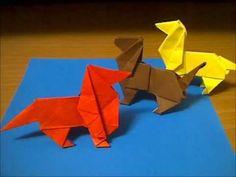 犬の折り方 Dog - YouTube