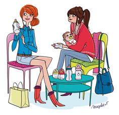 Book de l'illustratrice Magalie F Portfolio : Portfolio : Shopping Crime