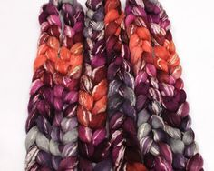 BFL/ SeaCell Roving  Handpainted Spinning Fiber by woolgatherings, $21.00