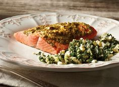 Herb Pesto Salmon with Quinoa Kale Salad from Publix Aprons