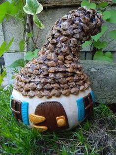 This was once a humble gourd but now, it's a charming fairy cottage!