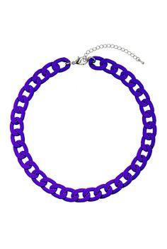 Gros collier chaîne bleu - Bijoux - Sacs et accessoires - Topshop en français