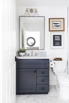 Seek this vital graphic and also have a look at today information and facts on Neutral Bathroom Decor Upstairs Bathrooms, Downstairs Bathroom, Bathroom Renos, Bathroom Ideas, Boy Bathroom, Small Guest Bathrooms, Shower Ideas, Small Full Bathroom, Bathroom Beadboard