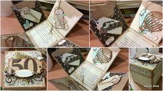 50th Birthday Exploding Box for a gent / Męskie pudełko na 50 urodziny dla Pana