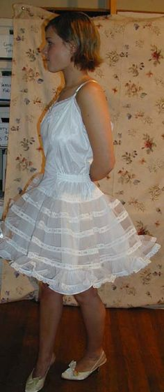 You aren't a crossdresser until you have minced around in one of these. My attic was full of them.