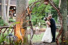 Sarah and Clinton's romantic gorgeous wedding at Black Mountain Sanctuary, photos by Carrie Turner.