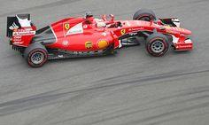 Sebastian Vettel takes second place for Ferrari