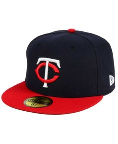 1812c2e12e9 New Era Kids  Minnesota Twins Authentic Collection 59FIFTY Cap - Navy Red 6  1 2