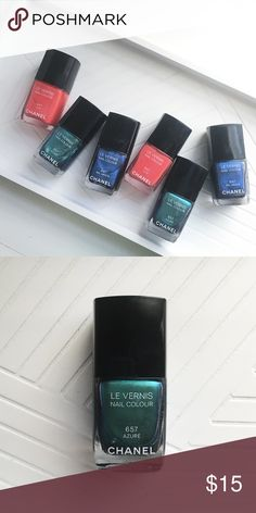 Chanel / Bel Argus Nail Colour Never opened, Chanel Le Vernis nail colour in bel argus. Perfect for a vibrant blue shimmer for summer 💅🏻 *** sold out of lilis and azuré *** CHANEL Makeup