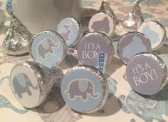 Little Peanut Baby Shower Party Favors - Stickers for Hershey Kisses - (set of 324) -Free Shipping Use Code SHIPFREE