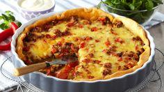 DAGENS RETT: Tacosmaken blir ekstra vellykket i kveld - Aperitif. Sour Cream, Quiche, Cauliflower, Macaroni And Cheese, Tacos, Food And Drink, Pizza, Cooking Recipes, Favorite Recipes