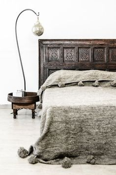 Old Architectural piece as headboard
