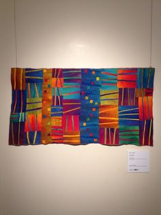 Daily dose of Fiber: This week I present art quilts from the PAQASouth show at the Page Walker in Cary, NC: Art Quilts Whimsy. Go see the show in person--pictures don't do them justice. Here's the second. Quilting Projects, Quilting Designs, Quilting Ideas, Quilt Modernen, String Quilts, Landscape Quilts, Textiles, Contemporary Quilts, Quilted Wall Hangings