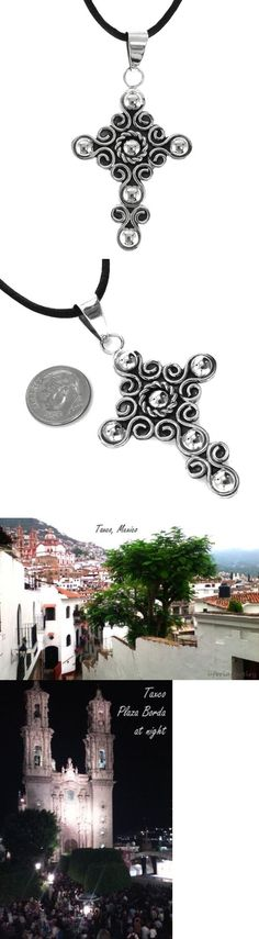 Necklaces and Pendants 98491: Taxco Vintage Style 925 Cross Pendant | Mexico Sterling Silver -> BUY IT NOW ONLY: $39.95 on eBay!