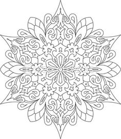 Round lace mandala design – Stock Illustration