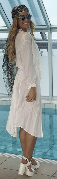 White Kimono Beach Style