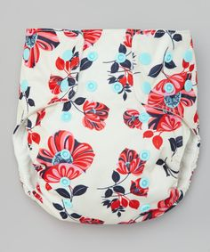 Look what I found on #zulily! Awesome Blossom Beige & Pink Floral Pocket Diaper - Infant by Awesome Blossom #zulilyfinds