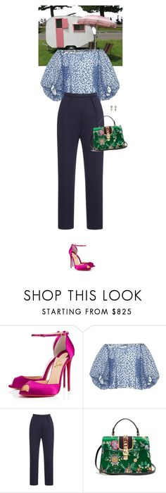"""""""Untitled #3545"""" by wizmurphy ❤ liked on Polyvore featuring Christian Louboutin, Gucci and vikagavinskaya"""