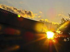 Sun streaming in