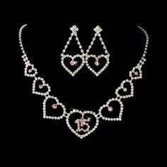 Mis Quince Anos, Perfect Necklace with Pink Rhinestone Accents, for my beautiful princess Valentina!