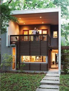 Terrenos pequenos ▪ fachadas contemporâneas #casasmodernasfachadasde