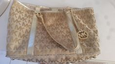 Michael Kors initial purse gold #MichaelKors #ShoulderBag $89
