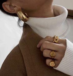 Gold Half Moon Earrings- geometric earrings/ gold half circle/ statement earrings/ half circle hoops/ half moon earrings/ minimalist/ modern in 2020 Dainty Jewelry, Beaded Jewelry, Jewelry Accessories, Vintage Jewelry, Jewelry Ideas, Fine Jewelry, Gold Jewelry, Jewelry Rings, Tiffany Jewelry