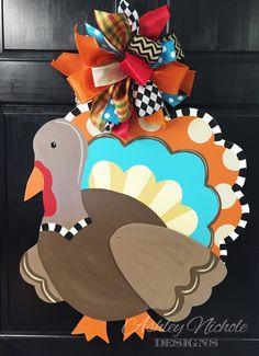 Turkey Door Hanger Door Decoration Whimsical Turkey Fall