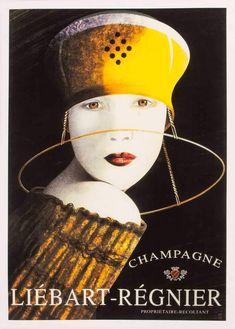 Champagne Vintage poster of Champagne Vintage Advertising Posters, Vintage Advertisements, Vintage Ads, Retro Ads, Vintage Wine, Retro Poster, Poster Ads, Art Nouveau, Wein Poster