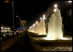 Fountains toward Mont Juic. Barcelona, Barcelona Spain