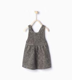 ZARA - KIDS - Textured pinafore dress