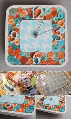 Button clock   DIY Stuff
