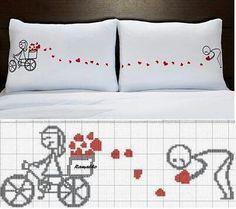 bordados en punto de cruz para enamorados - Buscar con Google