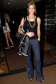 Denise Richards in flares