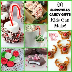 20 Christmas Candy Gifts Kids Can Make! A fantastic collection of Christmas Candy recipes your little helpers can make for the special people in their lives!