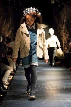 @bonpoint winter 2014 catwalk #beige #kidsfashion #bonpoint #fallwinter2014 #FW14 #children #kids #childrenwear #kidswear #kidsfashiontrends #girls #boys