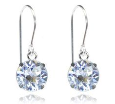 Crystal Clear Single Crystal Drop Earrings - $9.80