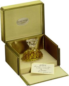 Jean Patou Joy Baccarat Pure Parfum, Limited Edition - An exclusive luxury fragrance for exceptional women—only 50 limited-edition inscribed Baccarat Pure Parfum bottles are created each year for Jean Patou Joy.   Jean Patou was the first designer to use his initials as a logo, presaging the monogrammed designer labels of today.  A floral bouquet of Bulgarian rose, Ylang-Ylang, Tuberose and Grasse Jasmine, the scent is a timeless masterpiece in simplicity.