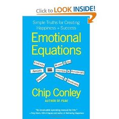 Dealing with life and emotions the equations that help us regain control. I have a few that I use as reminders but love that Chip Conley's essentially created life functions we should all know better than we know our Algebra. Book Title, Reading Lists, Books To Read, Success, Recommended Reading, Variables, Thoughts, Don't Judge, This Or That Questions