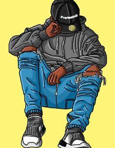 Swag Cartoon, Dope Cartoon Art, Cartoon Boy, Black Cartoon, Boys Wallpaper, Cartoon Wallpaper, Character Art, Character Design, Bd Art