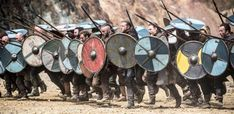 """The most common material to create a Viking spear was the iron. There was a variety of Viking spearheads during the Viking age. There was one rule about the length of the Viking spearheads: no rules at all. The Viking spearheads could be in any length as long as it sacrificed the need of the spear-wielder. Some spearheads could have """"wings"""" and these were the barbed spears. Meanwhile, some spearheads could be as small as an arrowhead and these were the puny spears. Vikings Game, Vikings Ragnar, Vikings Tv Show, Ragnar Lothbrok, Odin Thor, European Tribes, Viking Battle, Viking Warrior, Norse Mythology"""