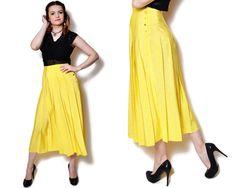 flared skirt yellow