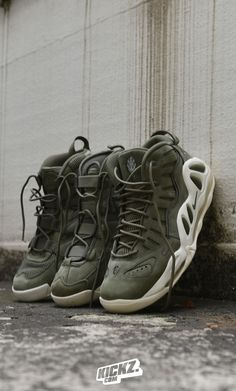 'Urban Haze' - Nike drops the Uptempo Family in a street solid olive green suede as part of their '12 soles' Christmas Collection