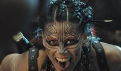 "Lee-Anne Liebenberg as Viper in ""Doomsday"" Amazon Girl, Tribal Makeup, Warrior Paint, Vikings, Viking Warrior, Steampunk Costume, Post Apocalypse, War Paint, Costume Makeup"